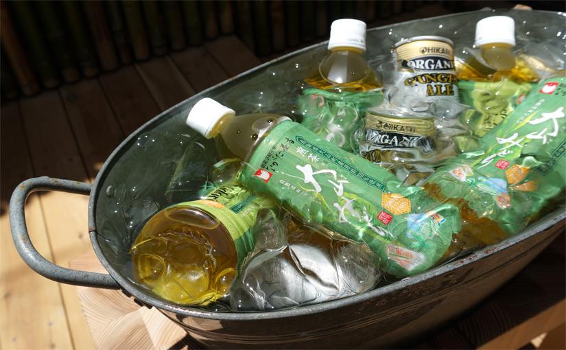 有機緑茶&有機ジンジャーエール、冷えてます!