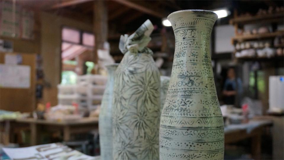 たてしな陶房 花瓶