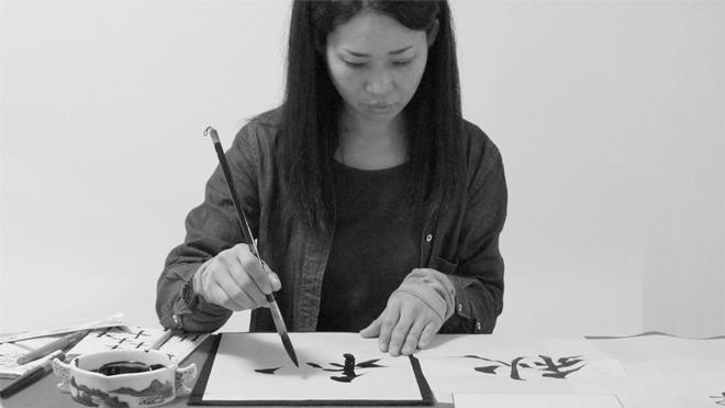 書道家 青崚の筆ペン教室 20150919 13