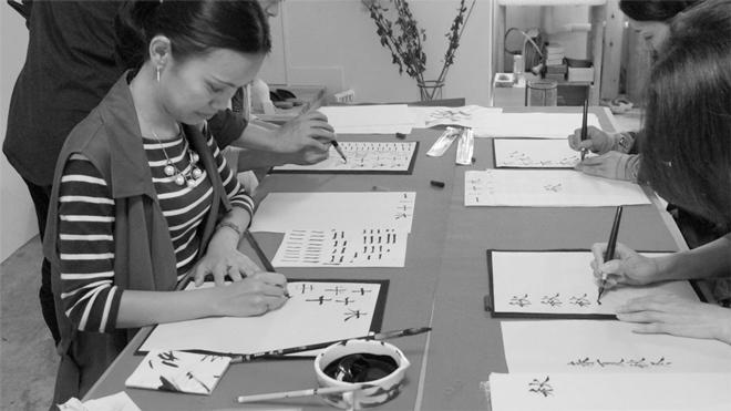 書道家 青崚の筆ペン教室 20150919 11