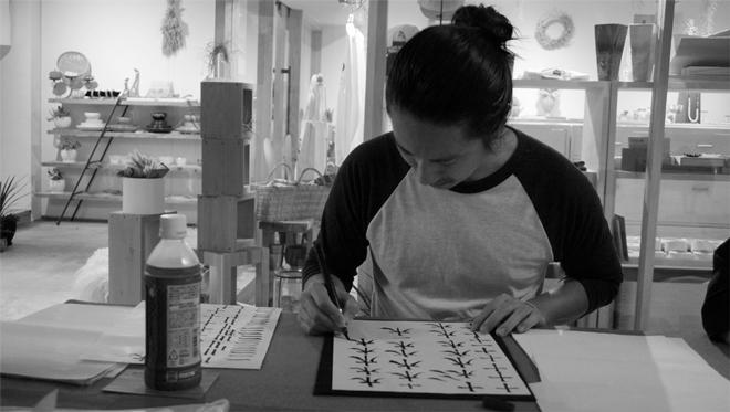 書道家 青崚の筆ペン教室 20150919 7