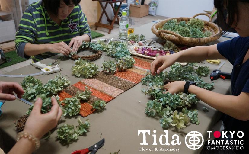 Tida Flower ドライフラワーリースワークショップ10.24(土) 開催されました!