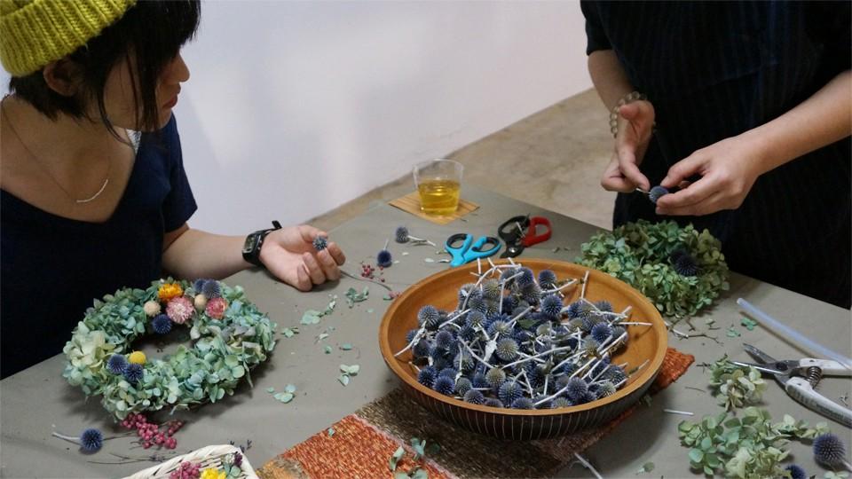 Tida Flowerドライフラワーリースワークショップ