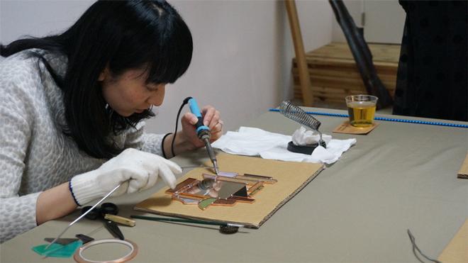 Glass & Art MOMO ステンドグラスワークショップ 10/25(日)