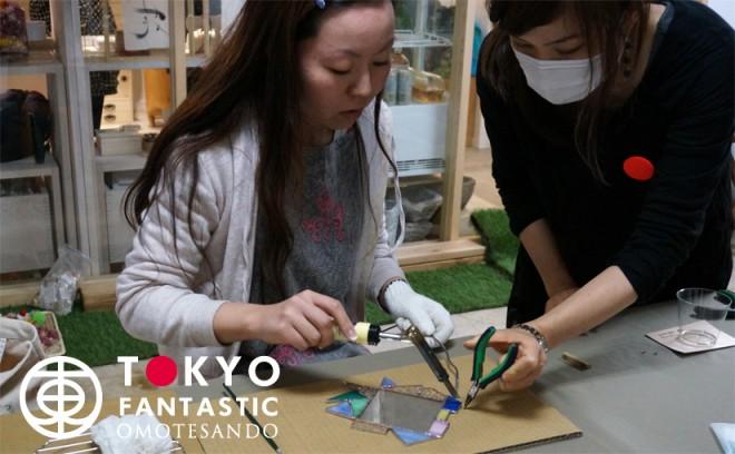 Glass & Art MOMO ステンドグラスワークショップ 10/25(日) 開催されました