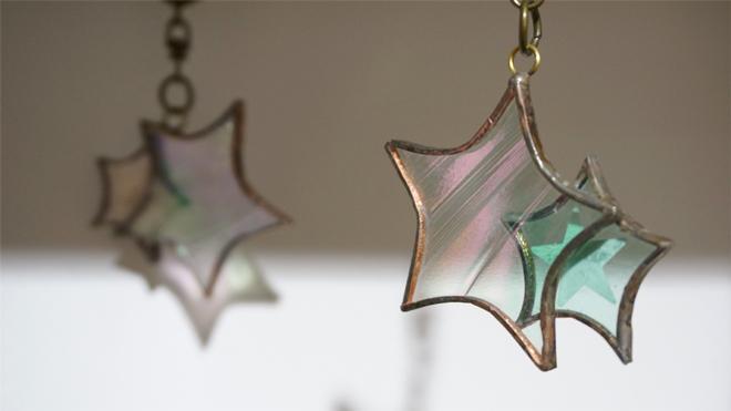 Glass & Art MOMO & Tida Flower Christmas exhibition 2015 クリスマスツリーオーナメント