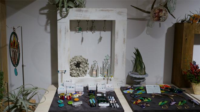 Glass & Art MOMO & Tida Flower Christmas exhibition 2015