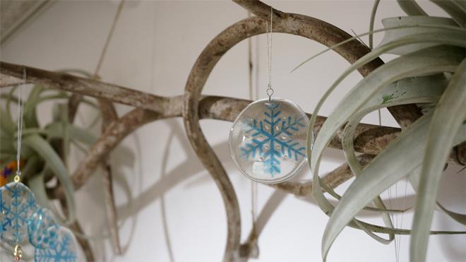 Glass & Art MOMO & Tida Flower Christmas exhibition 2015 雪の結晶 Snow Glass Frake スノーガラスフレーク