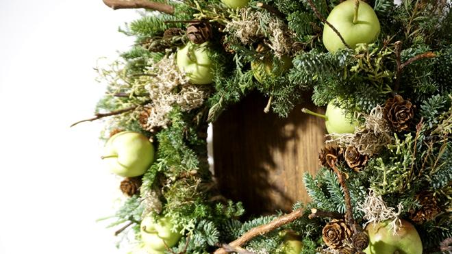 Glass & Art MOMO & Tida Flower Christmas exhibition 2015 クリスマスリース モミリース