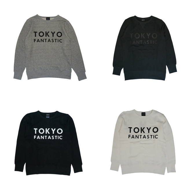tokyo logo tokyoロゴスウェット TOKYO FANTASTIC ブランドロゴ フレンチテリー クルーネック スウェット
