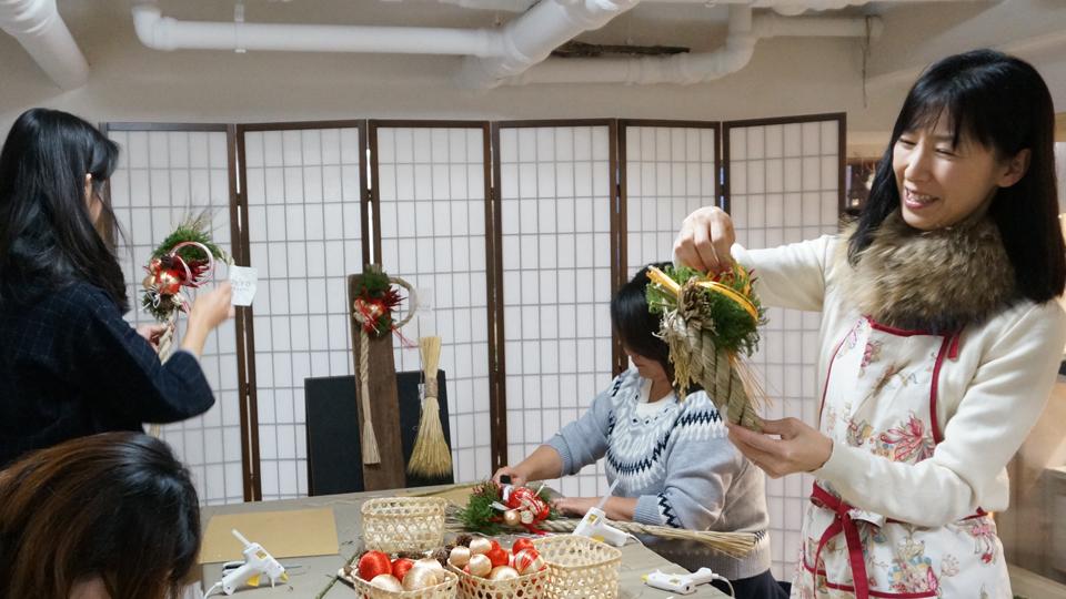 Tida Flower しめ縄リース ワークショップ