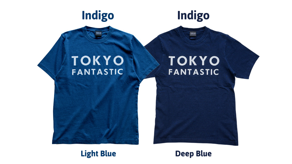 TOKYO T-shirts TOKYO Tee | Indigo Light Blue & Indigo Deep Blue