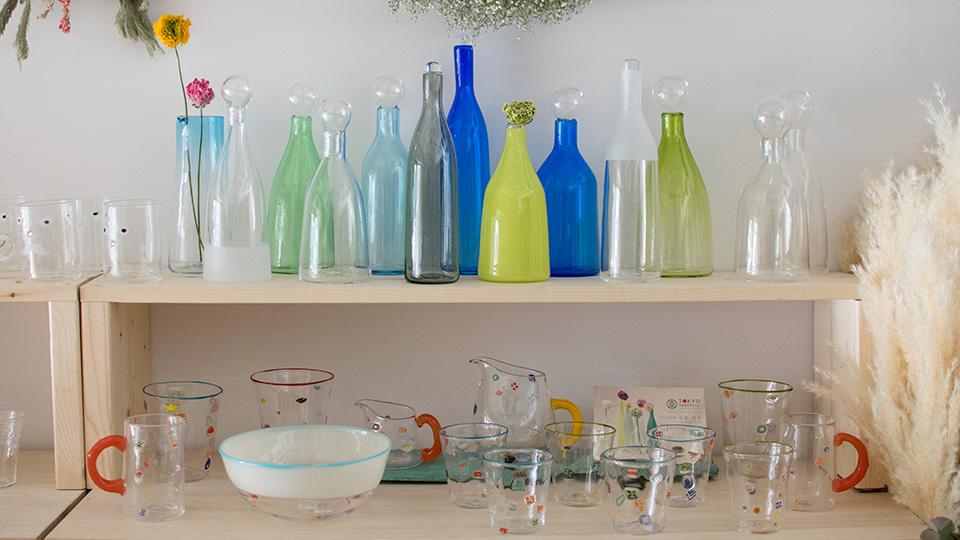 安達 寿英 toccio! glass works 花瓶 フラワーベース BUZZグラス