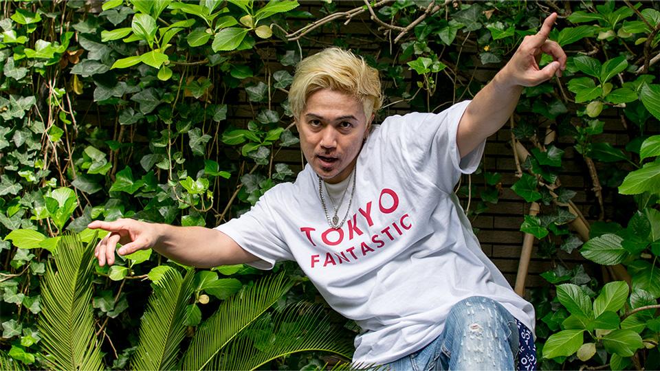 KEN (ex. DA PUMP)dancing & wearing TOKYO FANTASTIC JAPAN T-shirt
