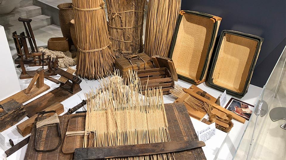豊岡杞柳細工。玄武洞ミュージアムにて撮影。