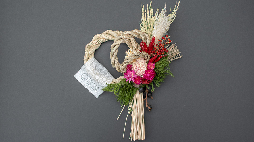 Tida Flowerのしめ縄リース オンラインストア通販モデル2018