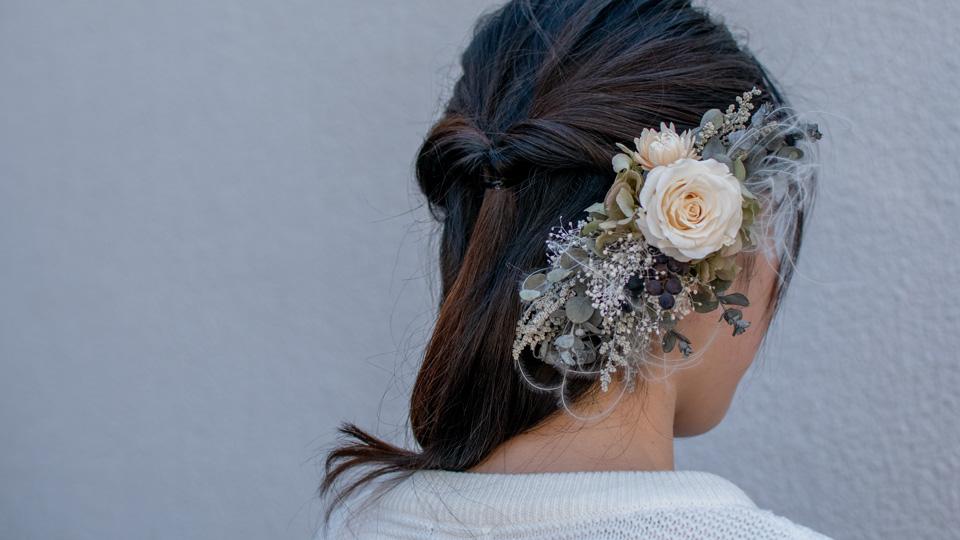 Tida Flower のヘッドドレス(アレンジメント・コームタイプ)