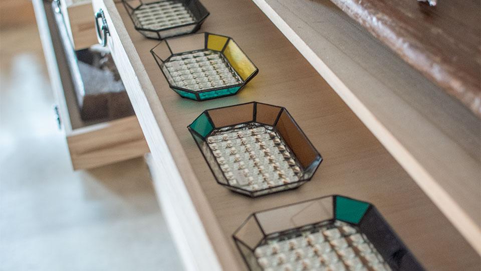 Glass&Art MOMO 「monotone」輝くガラスのお皿