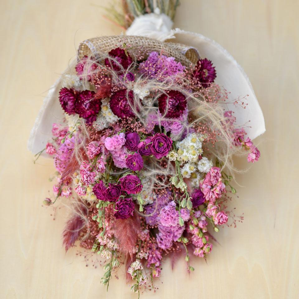 母の日スワッグ③濃いピンクバラ入り
