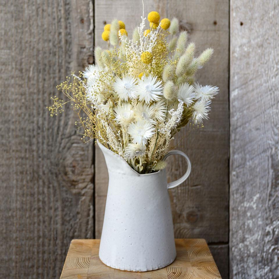 ドライフラワー花材セット Aセット ディスプレイ一例