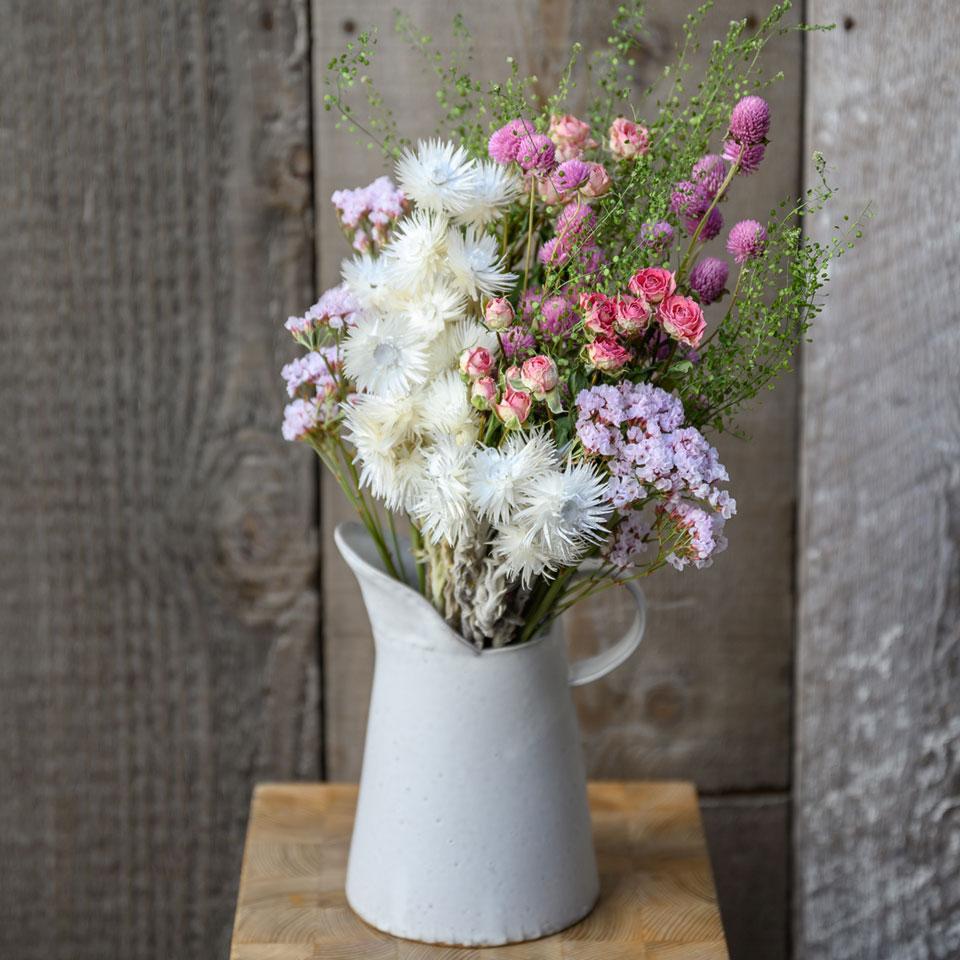 ドライフラワー花材セット Bセット ディスプレイ一例