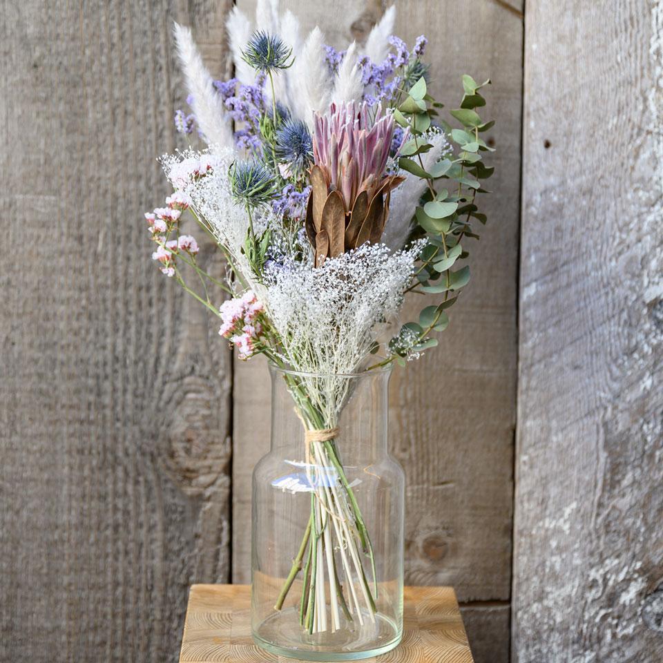 ドライフラワー花材セット Dセット ディスプレイ一例