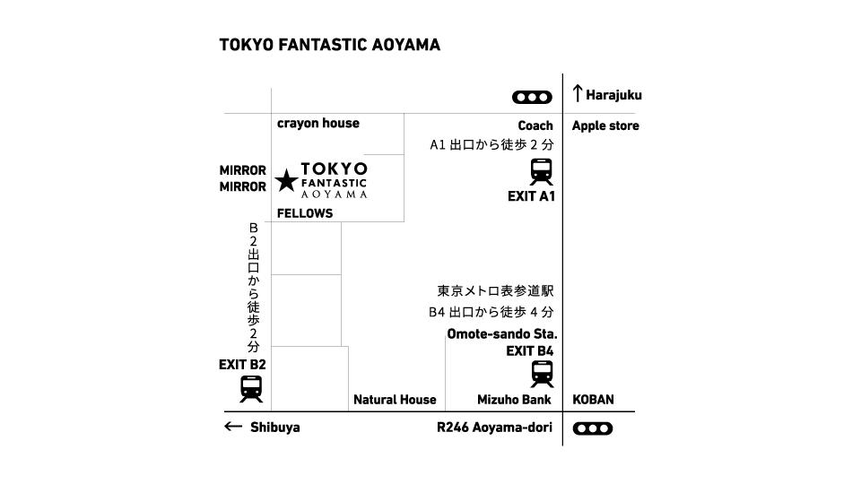 TOKYO FANTASTIC AOYAMA MAP