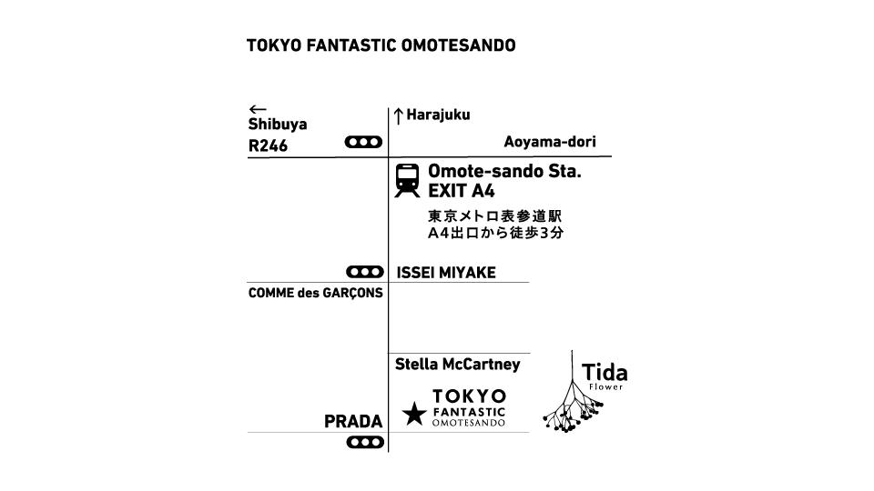 TOKYO FANTASTIC OMOTESANDO MAP