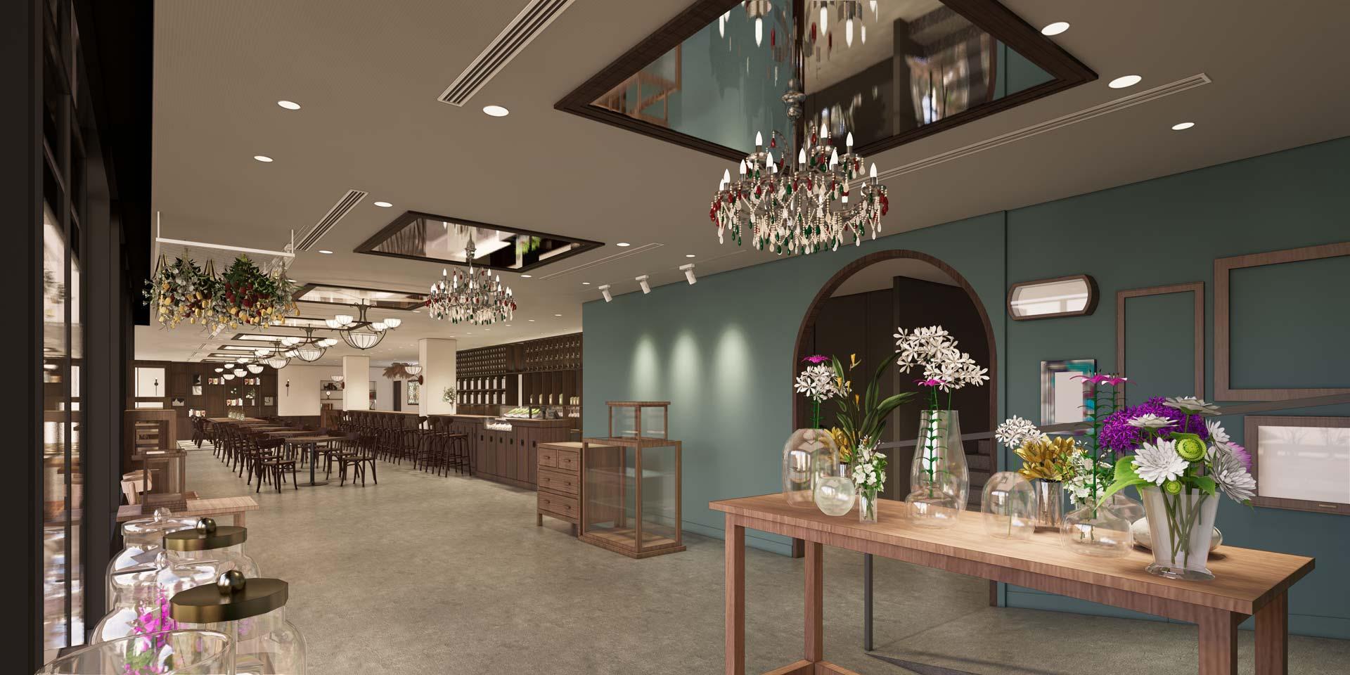 TOKYO FANTASTIC ボタニカル店と茶珈堂 イメージパース